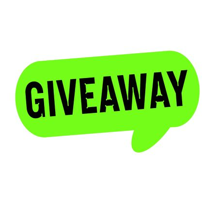 giveaway: Giveaway wording on Speech bubbles green cylinder Stock Photo