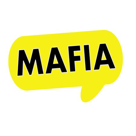 wording: Mafia wording on Speech bubbles yellow rectangular Stock Photo
