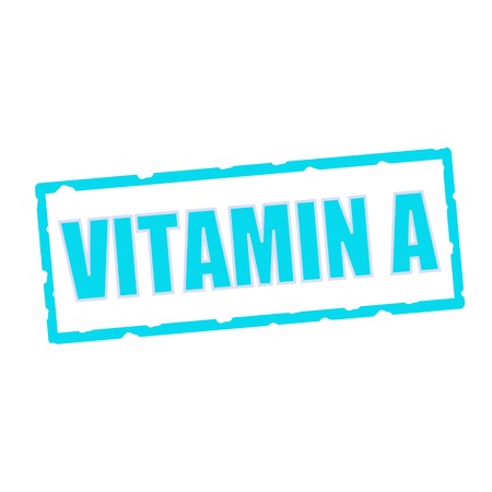 vitamin a: Vitamin A wording on chipped Blue rectangular signs