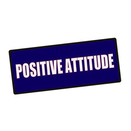 positive attitude: POSITIVE ATTITUDE wording on rectangular Green signs