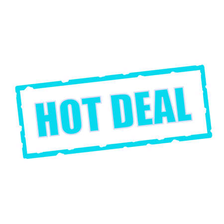 chipped: hot deal wording on chipped Blue rectangular signs