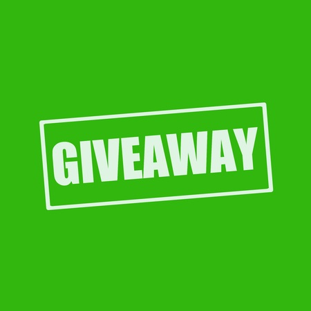 giveaway: Giveaway white wording on rectangle green background