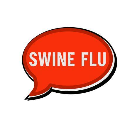 swine flu: SWINE FLU wording on red Speech bubbles