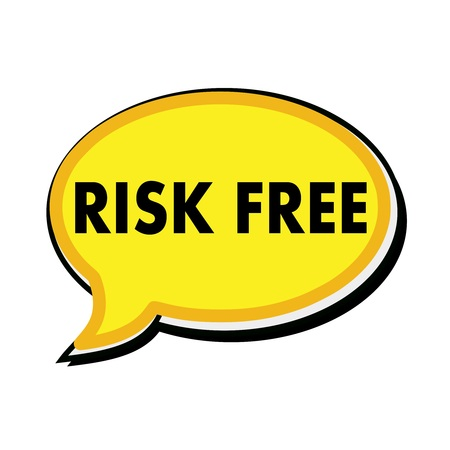 wording: Risk free wording on yellow Speech bubbles