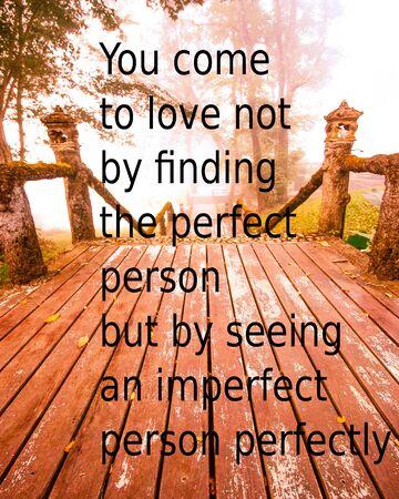 conclusion: La cita del amor en el fondo borroso con filtro de la vendimia Foto de archivo