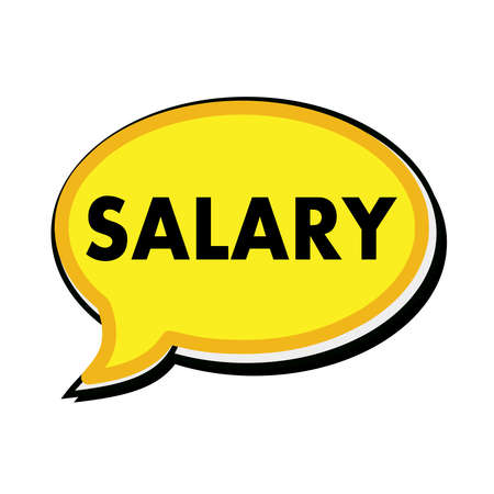 wording: SALARY wording on yellow Speech bubbles Stock Photo