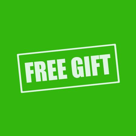 free gift: Free gift white wording on rectangle green background