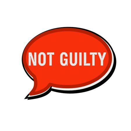 guilty: Not guilty wording on red Speech bubbles Stock Photo