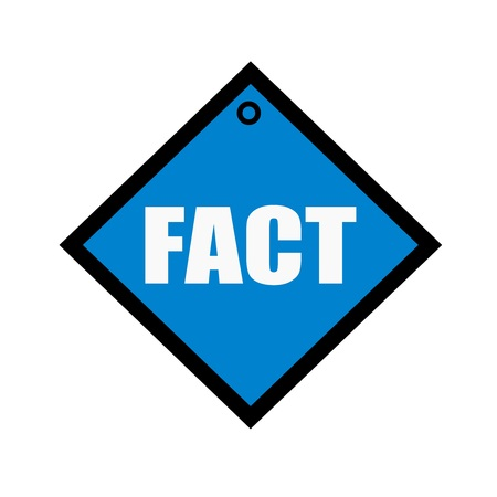fact: FACT  white wording on quadrate blue background