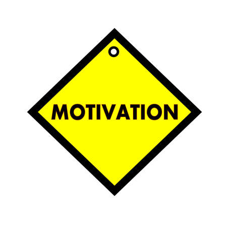 wording: MOTIVATION black wording on quadrate yellow background