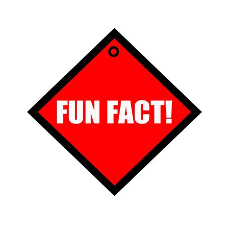 fact: Fun fact black wording on quadrate red background Stock Photo