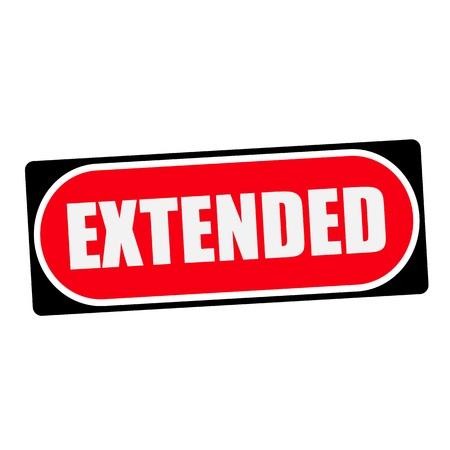 extended: extended white wording on red background  black frame