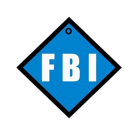 the fbi: FBI white wording on quadrate blue background