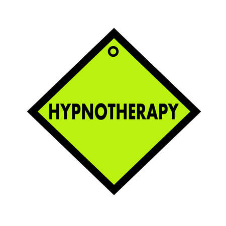 quadrate: HYPNOTHERAPY black wording on quadrate green background
