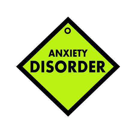 quadrate: ANXIETY DISORDER black wording on quadrate green background Stock Photo