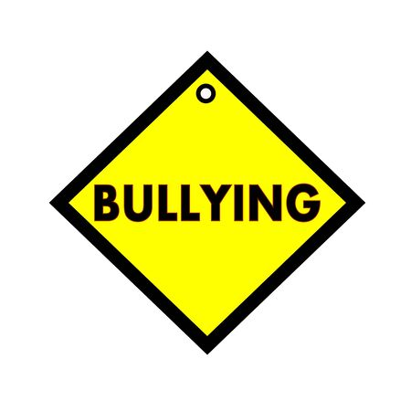 wording: BULLYING black wording on quadrate yellow background