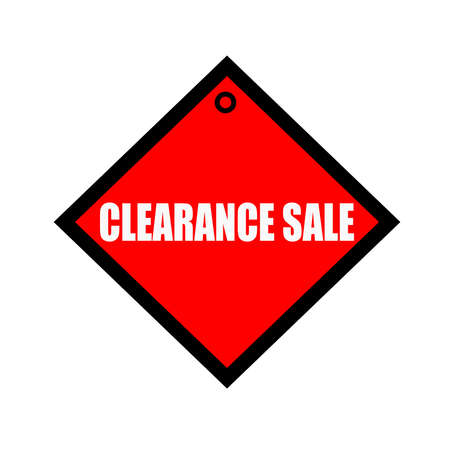 quadrate: clearance sale black wording on quadrate red background