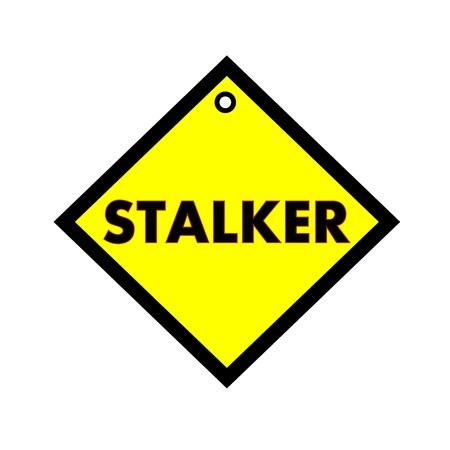 stalker: STALKER black wording on quadrate yellow background