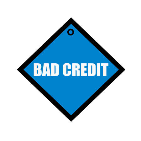 quadrate: bad credit white wording on quadrate blue background