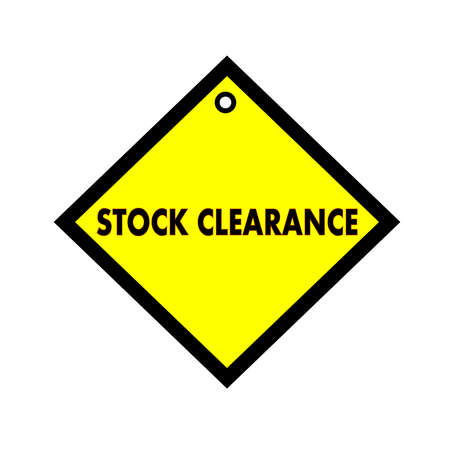 quadrate: Stock clearance black wording on quadrate yellow background