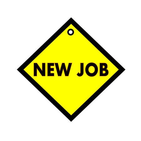 quadrate: NEW JOB black wording on quadrate yellow background Stock Photo