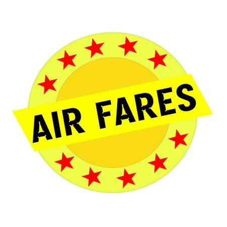 航空運賃黒黄色の星の黄色の四角形と円の文言