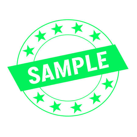 green stars: sample white wording on green Rectangle and Circle green stars