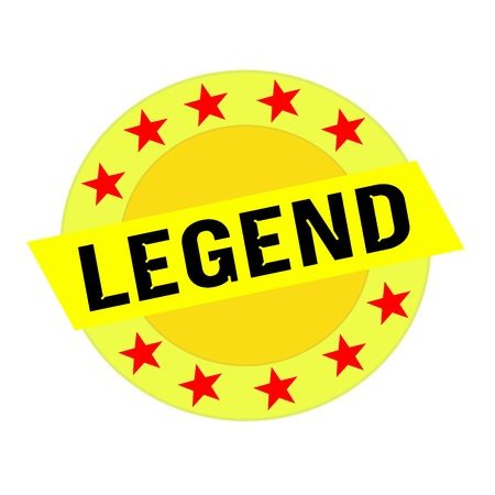 legend: Legend black wording on yellow Rectangle and Circle yellow stars