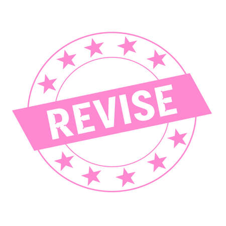 revise: REVISE white wording on pink Rectangle and Circle pink stars
