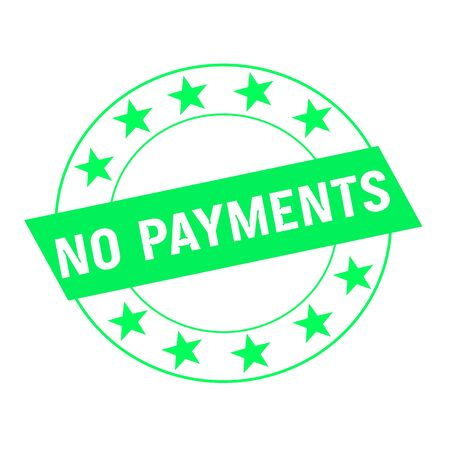 green stars: no payment white wording on green Rectangle and Circle green stars