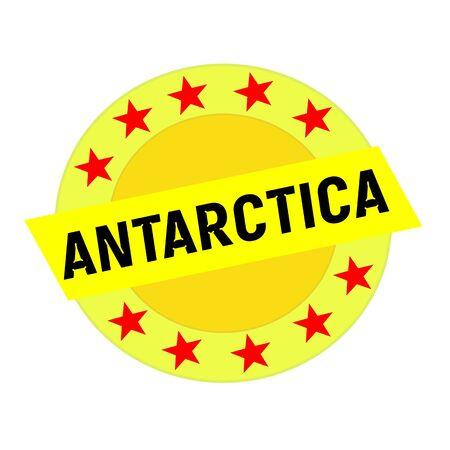 antarctica: Antarctica  black wording on yellow Rectangle and Circle yellow stars