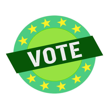 green stars: vote white wording on green Rectangle and Circle green stars