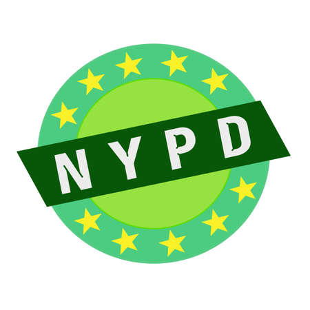 green stars: NYPD white wording on green Rectangle and Circle green stars