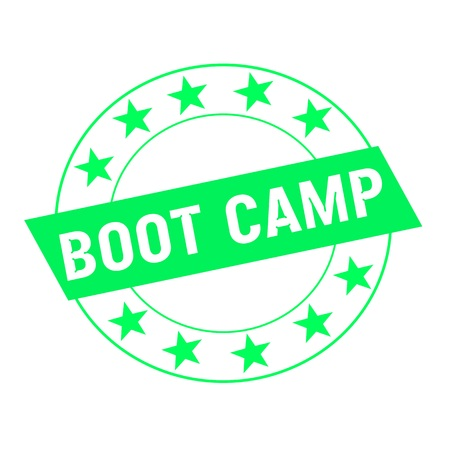 green stars: boot camp white wording on green Rectangle and Circle green stars