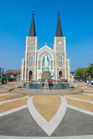 immaculate: View Chanthaburi  24 March 2016: The Cathedral of Immaculate Conception, Chanthaburi Thailand