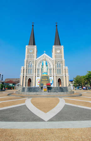 immaculate conception: View Chanthaburi  24 March 2016:The Cathedral of Immaculate Conception Chanthaburi Thailand Editorial