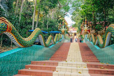 thai temple: wat khaosukim 25 March 2016: Thai Temple Chanthaburi Thailand