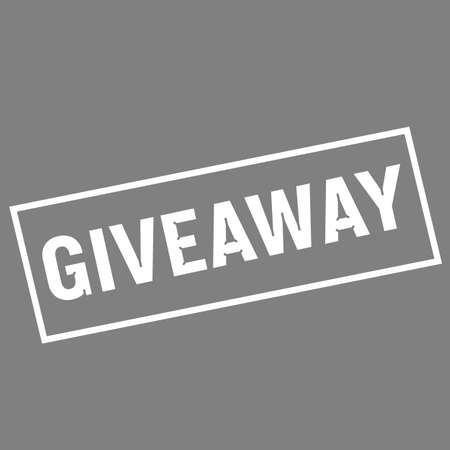 giveaway: Giveaway white wording on rectangle gray background