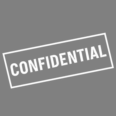 wording: confidential white wording on rectangle gray background