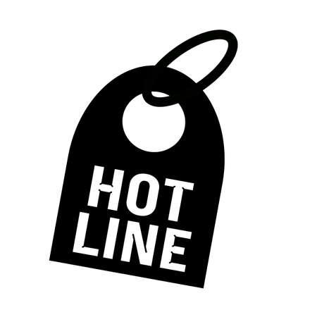 hot line: HOT LINE white wording on background black key chain