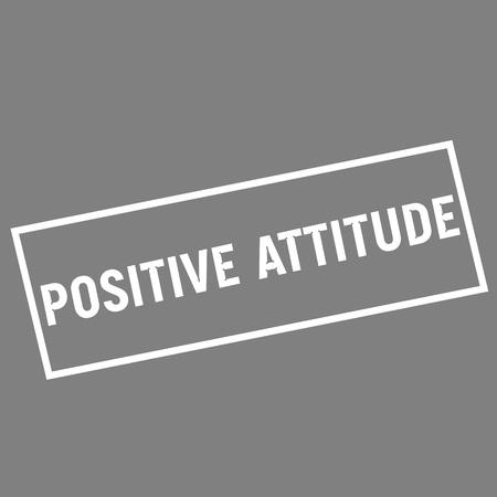positive attitude: POSITIVE ATTITUDE white wording on rectangle gray background Stock Photo