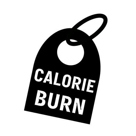 calorie: CALORIE BURN white wording on background black key chain