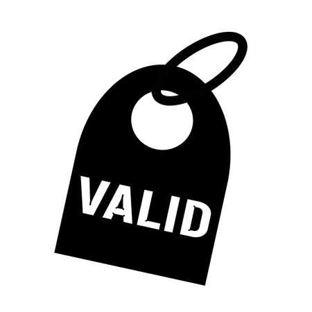 valid: VALID white wording on background black key chain Stock Photo