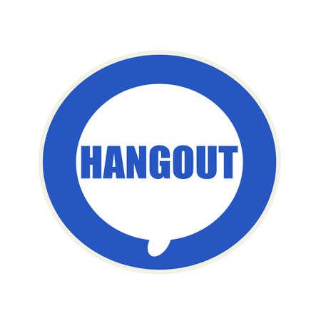 hangout: Hangout blue wording on Circular white speech bubble