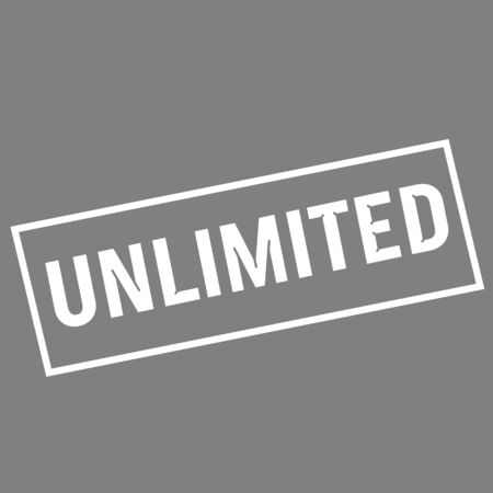 unlimited: unlimited white wording on rectangle gray background