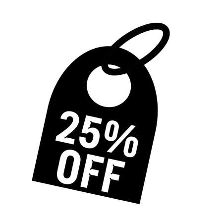off white: 25% OFF white wording on background black key chain