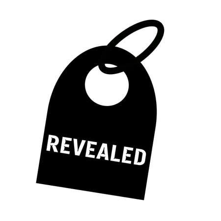 revealed: REVEALED white wording on background black key chain