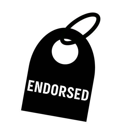 endorsed: ENDORSED white wording on background black key chain