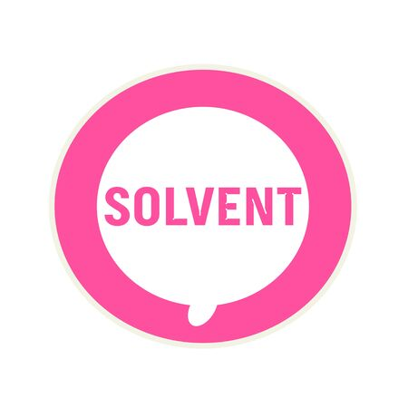 solvent: SOLVENT pink wording on Circular white speech bubble