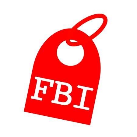 the fbi: FBI white wording on background red key chain
